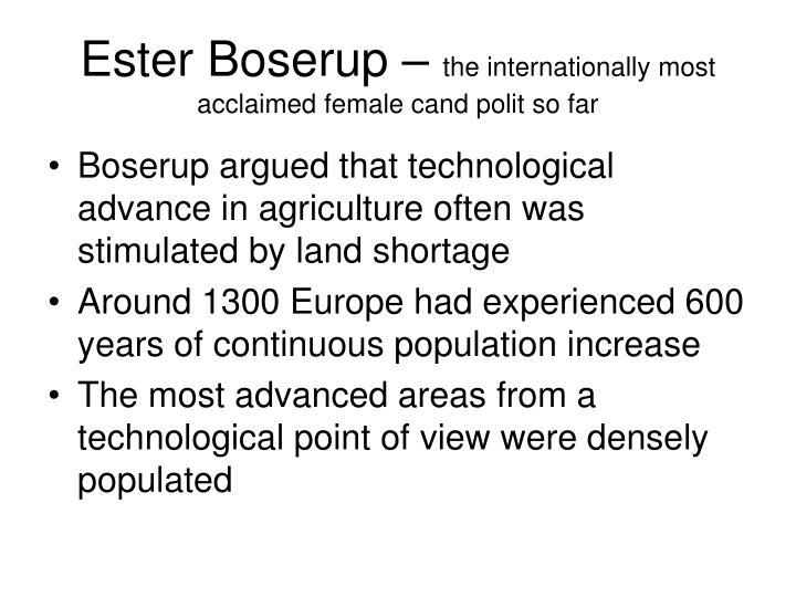 Ester Boserup –