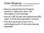 ester boserup the internationally most acclaimed female cand polit so far