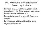 ph hoffman s tfp analysis of french agriculture