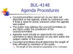 bul 4148 agenda procedures