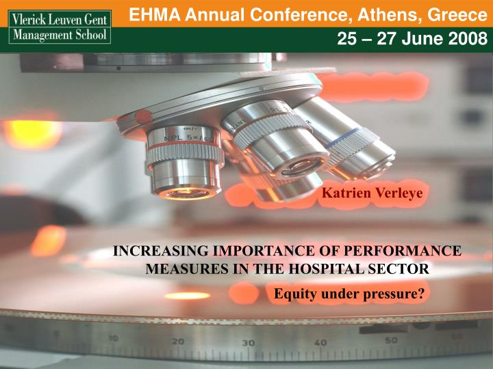 EHMA Annual Conference, Athens, Greece
