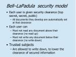 bell lapadula security model
