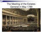 the meeting of the estates general in may 1789