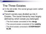 the three estates