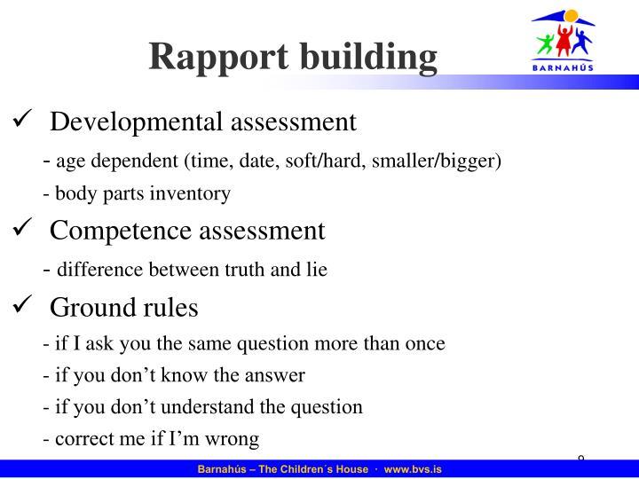 Rapport building