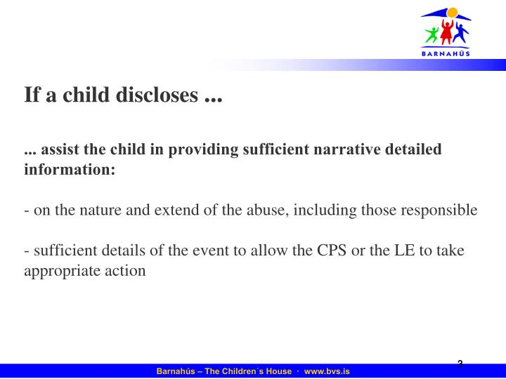 If a child discloses