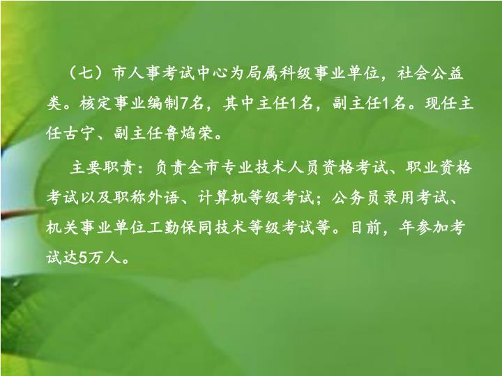 (七)市人事考试中心