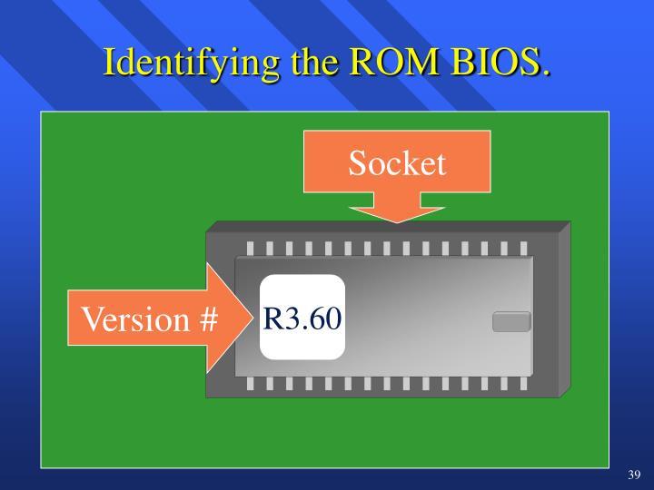 Identifying the ROM BIOS.