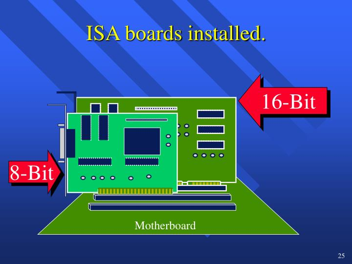 ISA boards installed.