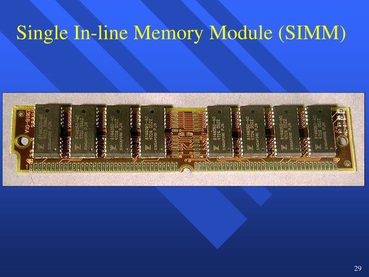 Single In-line Memory Module (SIMM)