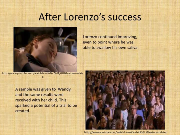 After Lorenzo's success