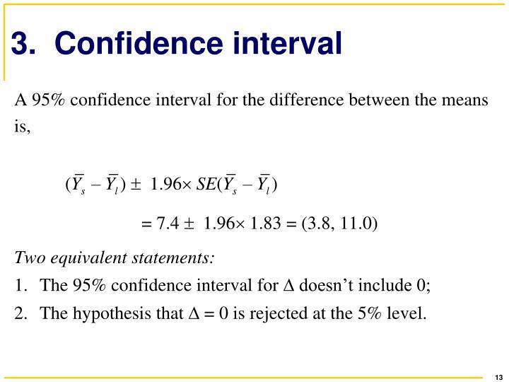 3.  Confidence interval