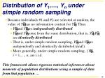 distribution of y 1 y n under simple random sampling