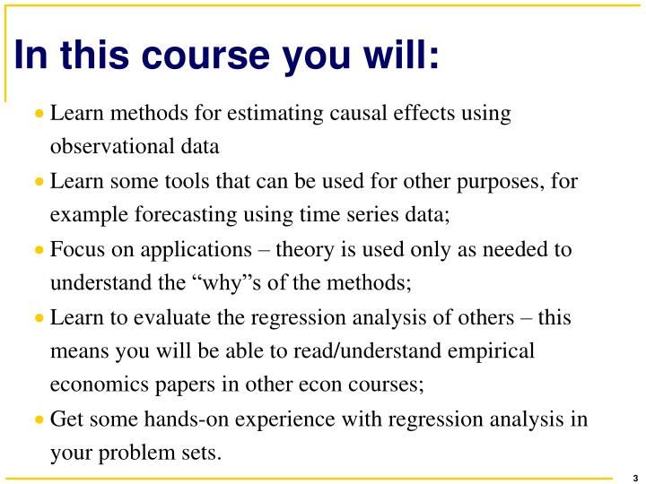 In this course you will: