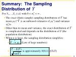 summary the sampling distribution of