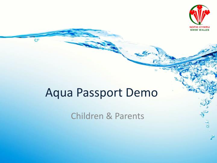 Aqua Passport Demo