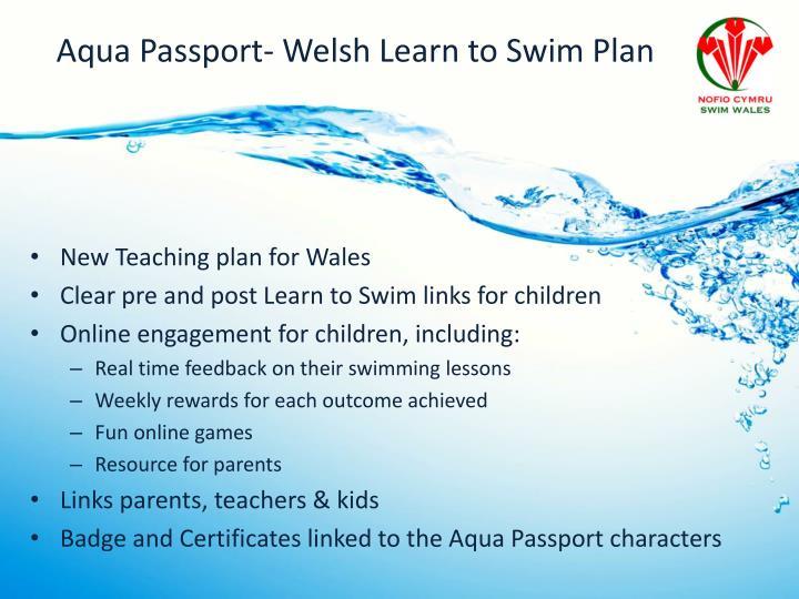 Aqua Passport- Welsh Learn to Swim Plan