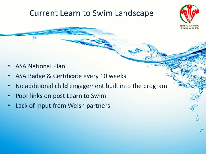 Current Learn to Swim Landscape