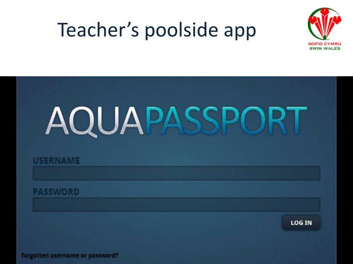 Teacher's poolside app