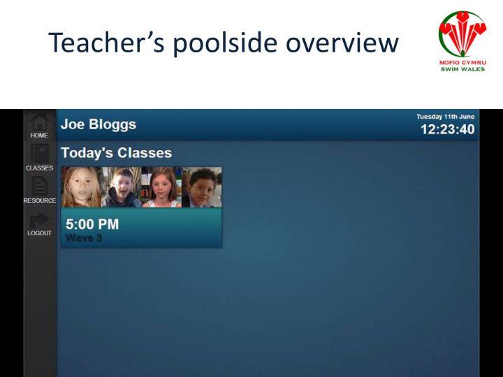 Teacher's poolside overview