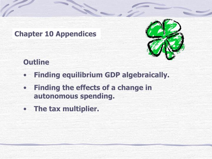 Chapter 10 Appendices