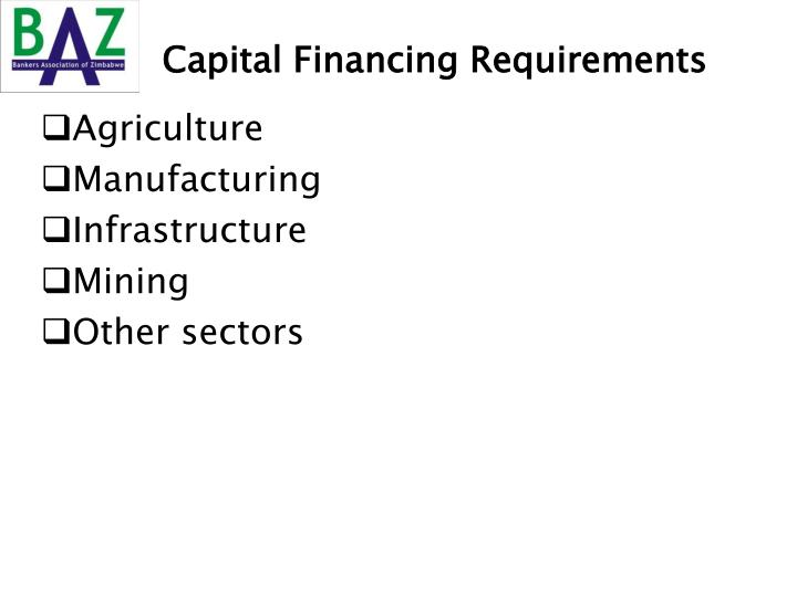 Capital Financing Requirements