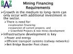 mining financing requirements1