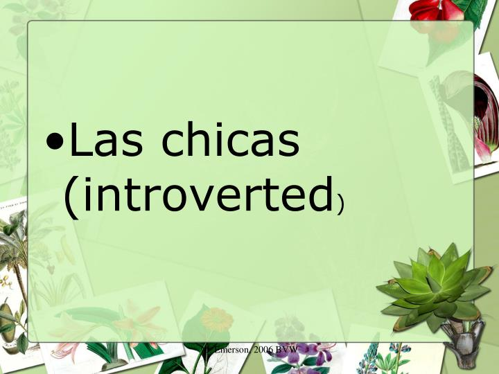 Las chicas (introverted