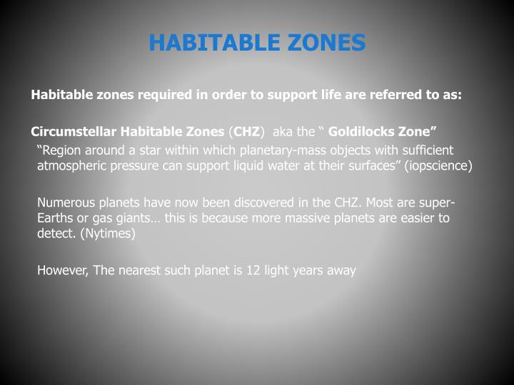 HABITABLE ZONES