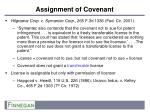 assignment of covenant