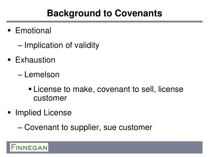 Background to Covenants