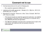 covenant not to sue