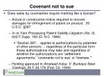 covenant not to sue1