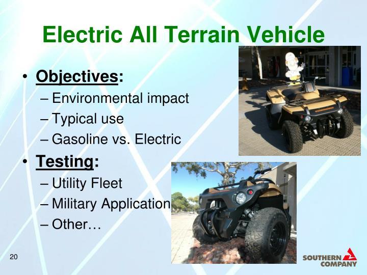 Electric All Terrain Vehicle