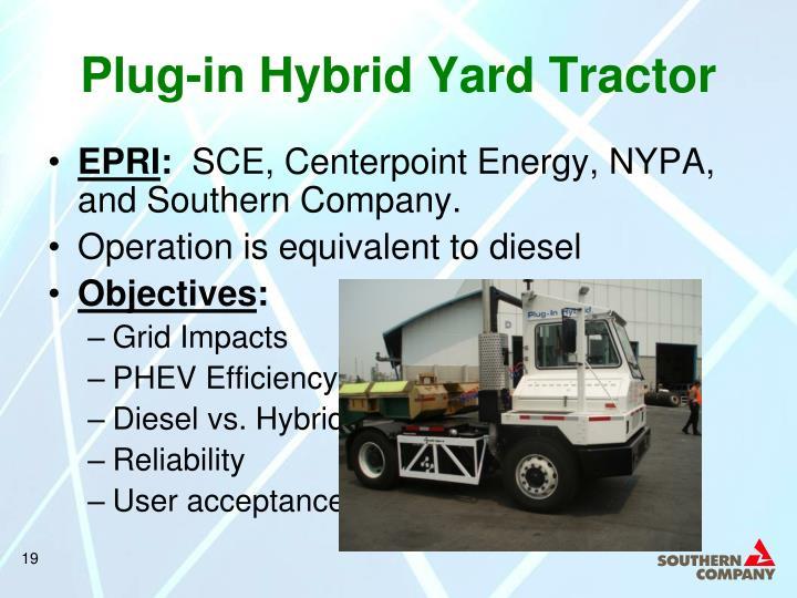 Plug-in Hybrid Yard Tractor