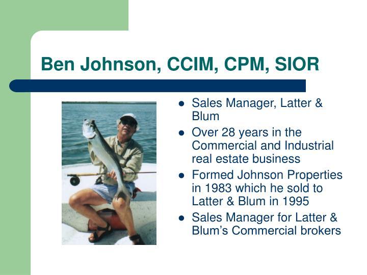 Ben Johnson, CCIM, CPM, SIOR