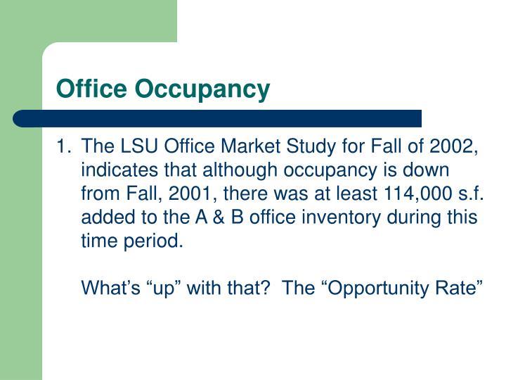 Office Occupancy