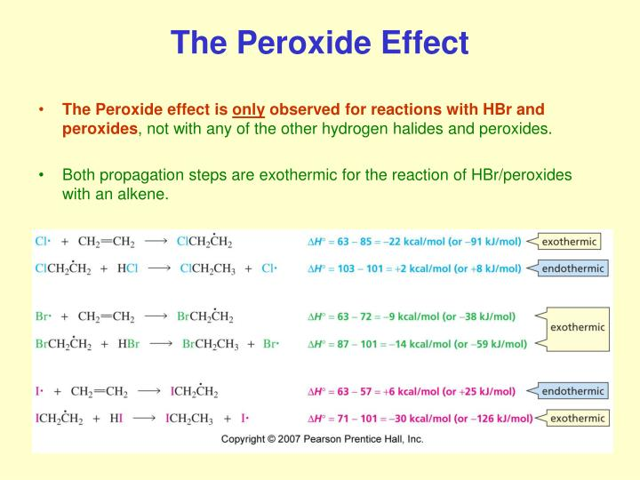 The Peroxide Effect
