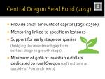 central oregon seed fund 2013