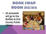 book swap room 212 214