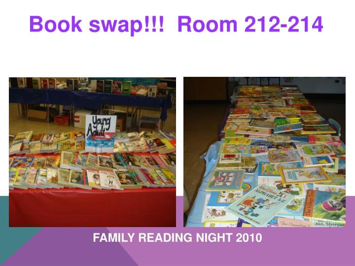 Book swap!!!  Room 212-214