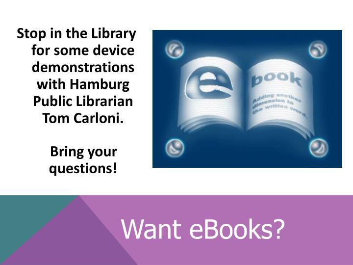 Want eBooks?