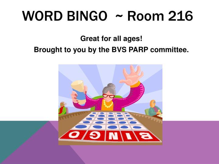 Word Bingo  ~