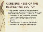 core business of the beekeeping section