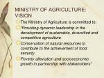ministry of agriculture vision