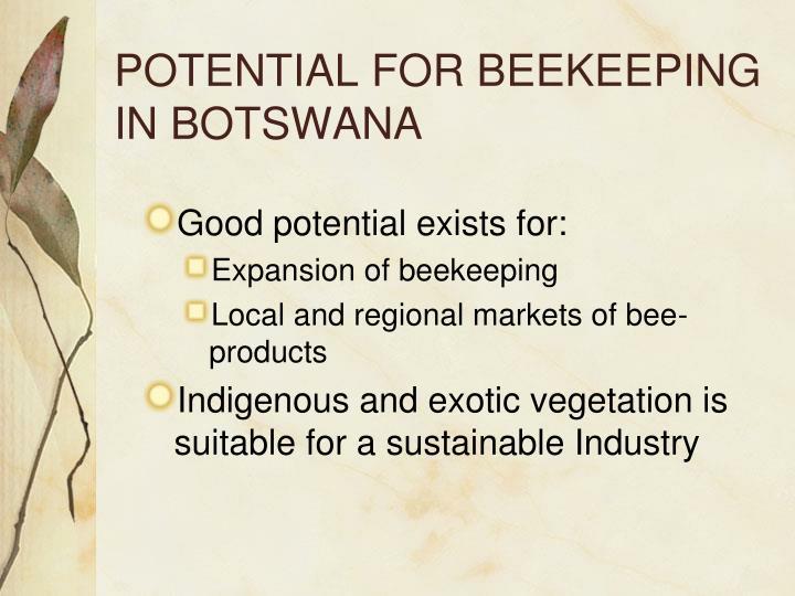 POTENTIAL FOR BEEKEEPING IN BOTSWANA