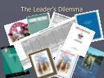 the leader s dilemma