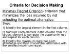 criteria for decision making2