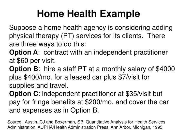 Home Health Example