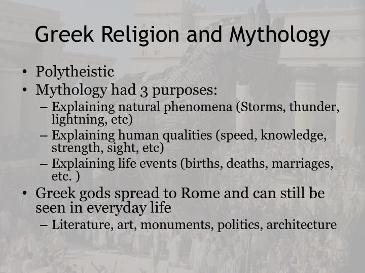 Greek Religion and Mythology